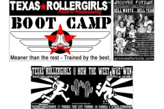 Texas Rollergirls Boot Camp Tshirt Detail